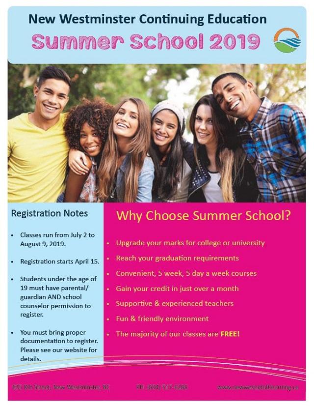 Summer LearningNew Westminster Schools – Adult & Online Learning