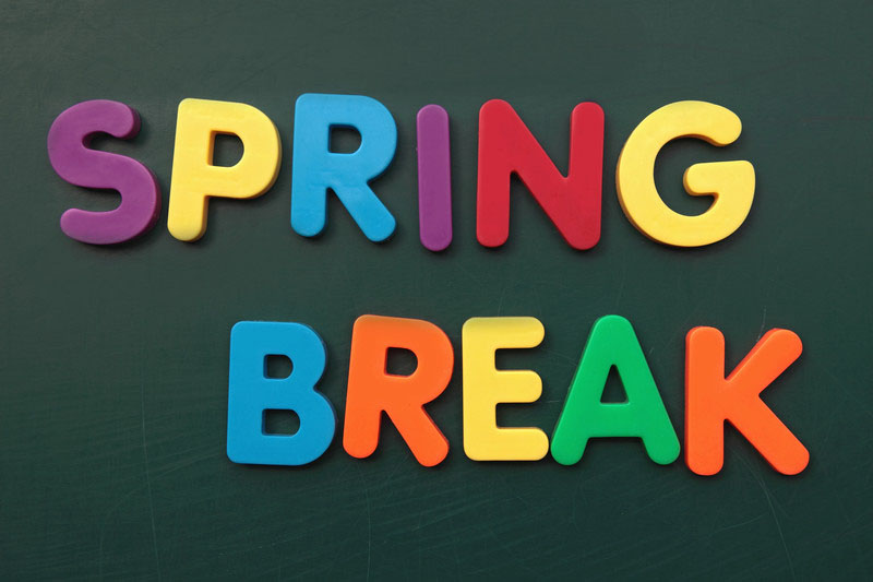 Spring Break March 15 to March 26 – No Classes